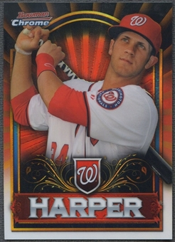 2011 Bowman Chrome #BCE1R Bryce Harper Retail Exclusive Red