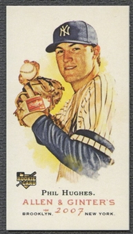 2007 Topps Allen and Ginter #164 Phil Hughes Rookie Mini Bazooka #20/25
