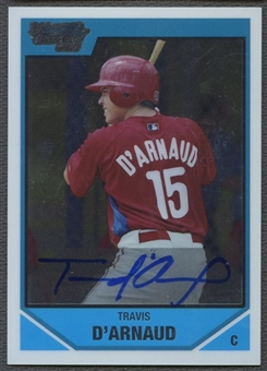 2007 Bowman Chrome Draft #BDPP140 Travis d'Arnaud Draft Picks Auto