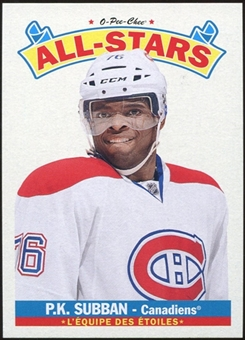 2012/13 Upper Deck O-Pee-Chee All Stars #AS34 P.K. Subban