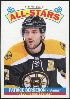 2012/13 Upper Deck O-Pee-Chee All Stars #AS35 Patrice Bergeron