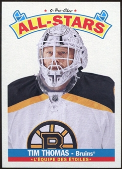 2012/13 Upper Deck O-Pee-Chee All Stars #AS46 Tim Thomas