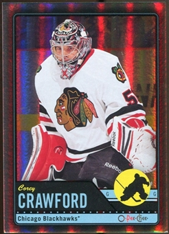 2012/13 Upper Deck O-Pee-Chee Black Rainbow #205 Corey Crawford 5/100