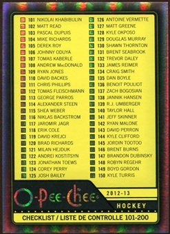 2012/13 Upper Deck O-Pee-Chee Black Rainbow #497 Checklist 11/100