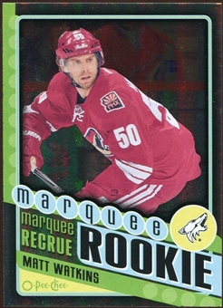 2012/13 Upper Deck O-Pee-Chee Black Rainbow #588 Matt Watkins 58/100