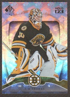 2009/10 Upper Deck SP Authentic Holoview FX #FX39 Tim Thomas
