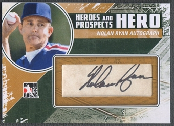 2011 ITG Heroes and Prospects #NR Nolan Ryan Heroes Auto