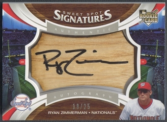 2006 Sweet Spot Signatures #139 Ryan Zimmerman Bat Barrel Black Ink Auto #18/25