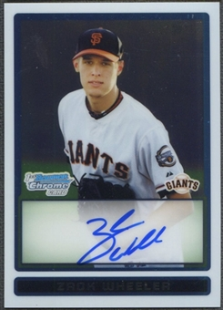 2009 Bowman Chrome Draft Prospects #BDPP86 Zack Wheeler Rookie Auto