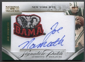 2009 Playoff National Treasures #38 Joe Namath College Patch Auto #22/26