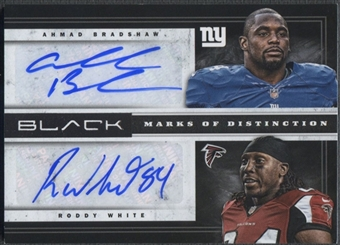 2012 Panini Black #14 Ahmad Bradshaw & Roddy White Marks of Distinction Combos Auto #07/10