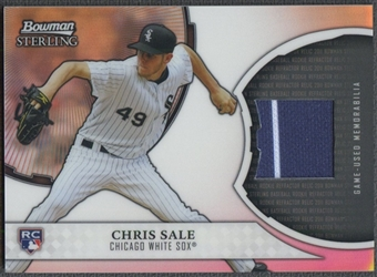 2011 Bowman Sterling #CS Chris Sale Rookie Relics Jersey
