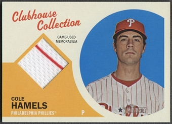 2012 Topps Heritage #CH Cole Hamels Clubhouse Collection Relics Jersey