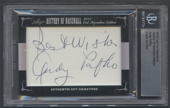 2012 Leaf History of Baseball #32 Andy Pafko Cut Signatures Auto