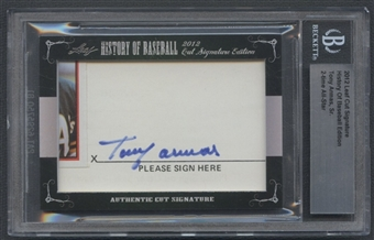2012 Leaf History of Baseball Tony Armas Sr. Cut Signatures Auto