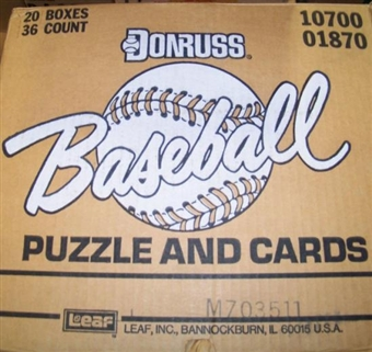 1987 Donruss Baseball Wax 20-Box Case