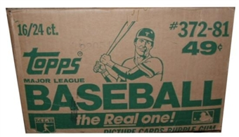 1981 Topps Baseball Cello 16-Box Case