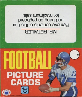1981 Topps Football Rack Box