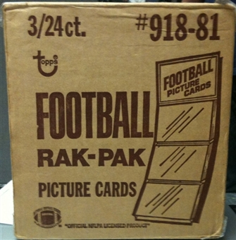 1981 Topps Football Rack 3-Box Case