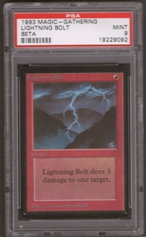 Magic the Gathering Beta Single Lightning Bolt PSA 9