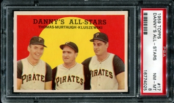 1959 Topps Baseball #17 Danny's All-Stars PSA 8 (NM-MT) *4025