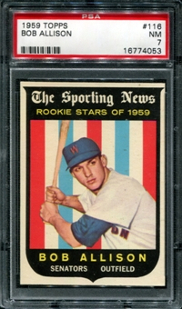 1959 Topps Baseball #116 Bob Allison PSA 7 (NM) *4053