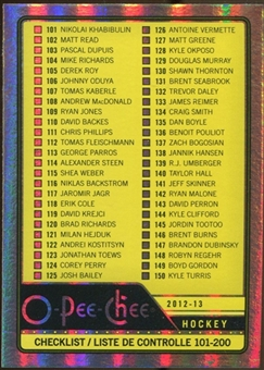 2012/13 Upper Deck O-Pee-Chee Rainbow #497 Checklist