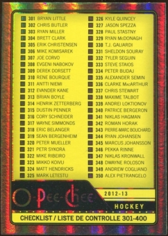 2012/13 Upper Deck O-Pee-Chee Rainbow #499 Checklist