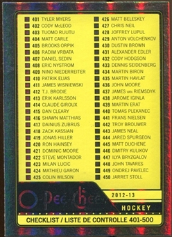 2012/13 Upper Deck O-Pee-Chee Rainbow #500 Checklist