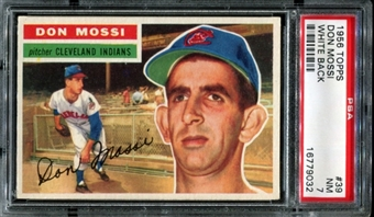 1956 Topps Baseball #39 Don Mossi PSA 7 (NM) *9032