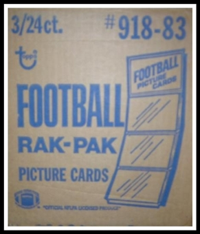 1983 Topps Football Rack 3-Box Case