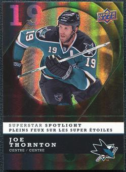 2008/09 McDonald's Upper Deck Superstar Spotlight #IS6 Joe Thornton
