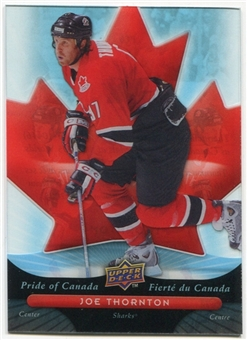 2009/10 McDonald's Upper Deck Pride of Canada #PC6 Joe Thornton