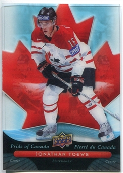 2009/10 McDonald's Upper Deck Pride of Canada #PC10 Jonathan Toews