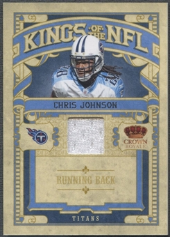 2010 Crown Royale #7 Chris Johnson Kings of the NFL Materials Jersey #021/299