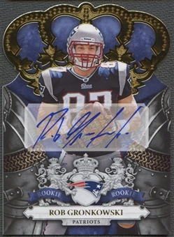 2010 Crown Royale #230 Rob Gronkowski Gold Rookie Auto #21/25