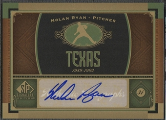 2012 SP Signature #TEX1 Nolan Ryan Signatures Auto