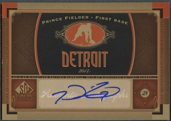 2012 SP Signature #DET8 Prince Fielder Signatures Auto