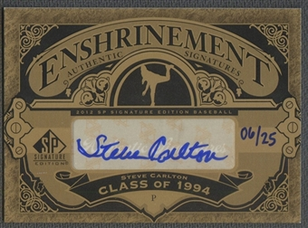 2012 SP Signature #SC Steve Carlton Enshrinement Signatures Auto #06/25