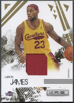 2009/10 Rookies and Stars #14 LeBron James Gold Materials Jersey #166/250
