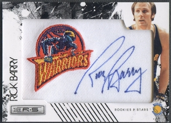 2009/10 Rookies and Stars #16 Rick Barry Retired NBA Team Patch Auto #130/199