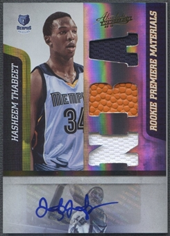 2009/10 Absolute Memorabilia #171 Hasheem Thabeet Rookie Jersey Auto #463/499