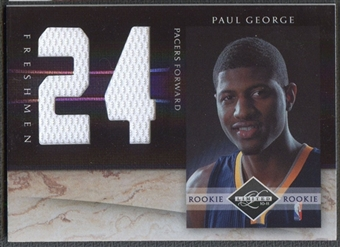 2010/11 Limited #10 Paul George Freshmen Jumbo Jersey Numbers #07/99