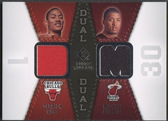 2008/09 Upper Deck SP Rookie Threads #RTDBR Derrick Rose Michael Beasley Rookie Threads Dual Jersey
