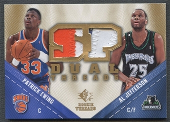 2008/09 Upper Deck SP Rookie Threads #TDEJ Patrick Ewing Al Jefferson SP Threads Dual Patch