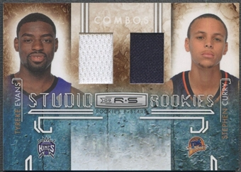 2009/10 Rookies and Stars #9 Stephen Curry Tyreke Evans Studio Combo Rookie Jersey #195/299