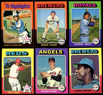 1975 Topps Mini Baseball Near Complete Set (EX)