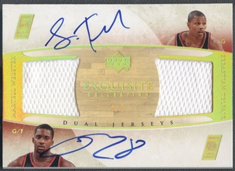 2005/06 Exquisite Collection #WT Sebastian Telfair & Martell Webster Dual Jersey Auto #4/5
