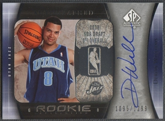 2005/06 SP Authentic #93 Deron Williams Rookie Auto #1095/1299