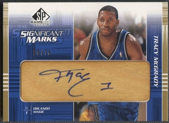 2003/04 SP Game Used #TMSM Tracy McGrady SIGnificant Marks Floor Auto #20/75